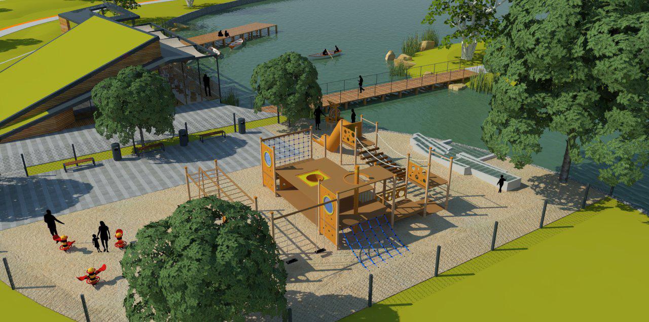 A Papi-földek park szabadidős és sport funkciók ellátására is alkalmas lesz